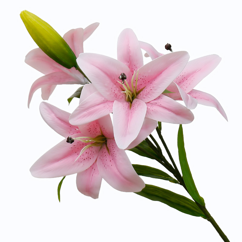 USD 12.99] Fake flower Lily simulation flower bouquet of a single ...