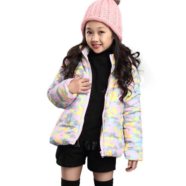 女童棉衣短款外套2015冬季新款韩版儿童羽绒棉服中大童时尚棉袄潮