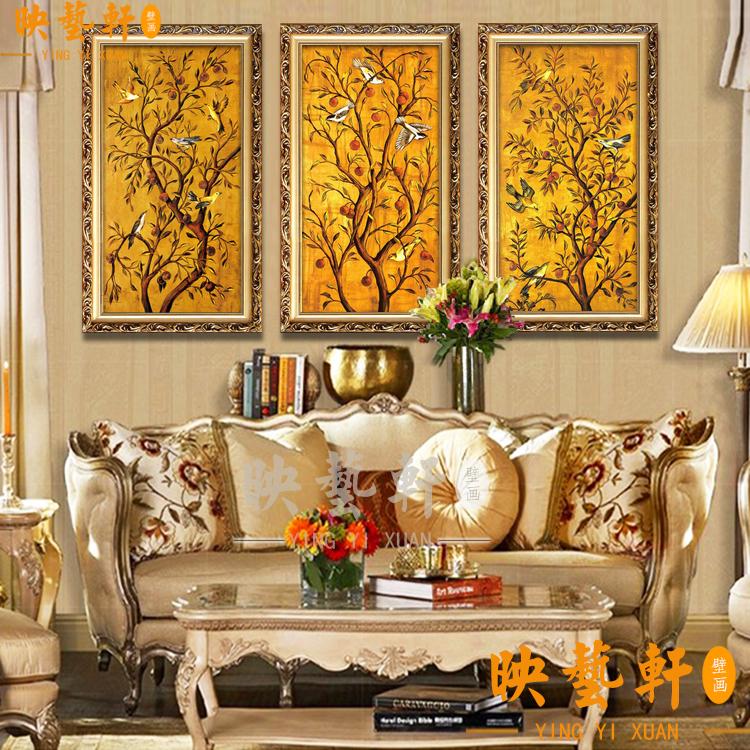 欧式油画 国画牡丹花富贵图客厅大厅玄关餐厅装饰画图片