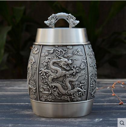Tin lon thiếc lon trà lớn hai pound nạp kim loại lon kín lon tươi bộ trà đồ nội thất kinh doanh để gửi cho bạn bè