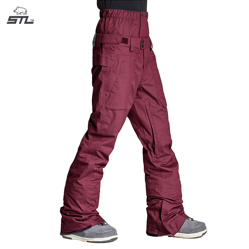 39b39598ba STL South Korea waterproof snowboard trousers men and women with the same  paragraph outdoor windproof warm