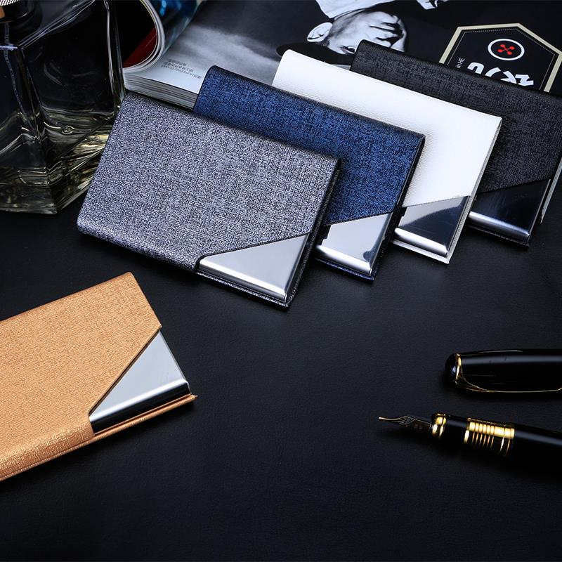 Usd 768 dezhi portable business card holder business card box dezhi portable business card holder business card box leather magnetic office card box creative portable business reheart Image collections