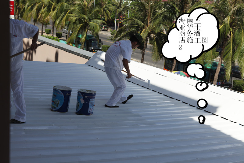 Authentic insulation paint sunscreen housing RGL-WZ cement roof insulation  cooling paint roof platform insulation