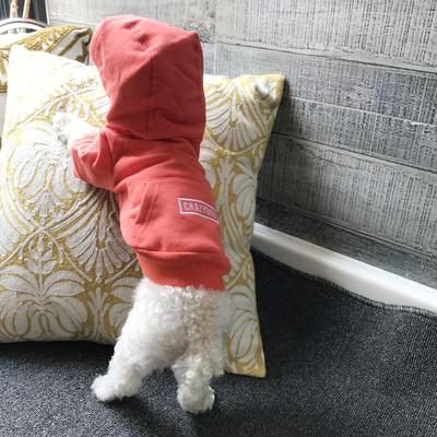 2017年秋冬装 宠物衣服带帽口袋了全棉卫衣嘻哈风休闲装狗狗衣服