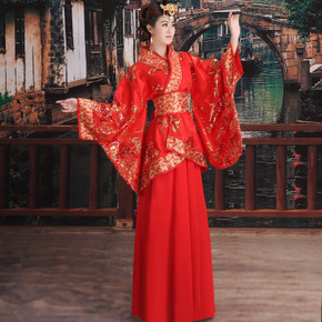 Drama costume, ancient costume, imperial concubine's dress, Tang Dynasty wedding dress, red bride's dress, Han's dress, princess's ancient women's dance dress, Ru skirt