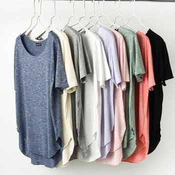 Short-sleeved t-shirt female summer loose big yards female was thin short-sleeve compassionate Modal before long and short sleeve T-shirt female half