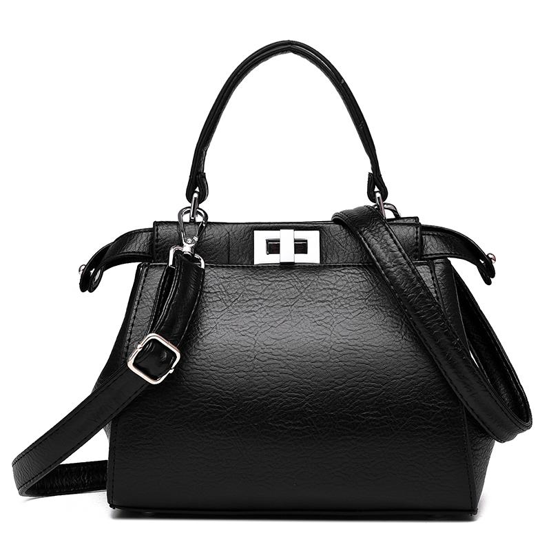 2016品牌女包时尚潮流皮软包休闲戴妃包欧美大包单肩大容量斜跨包