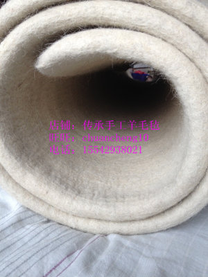Wool felt mattress, pure wool hand-rolled, old-fashioned felt pad, moisture-proof and cool porcelain, no glue, harder, can be customized