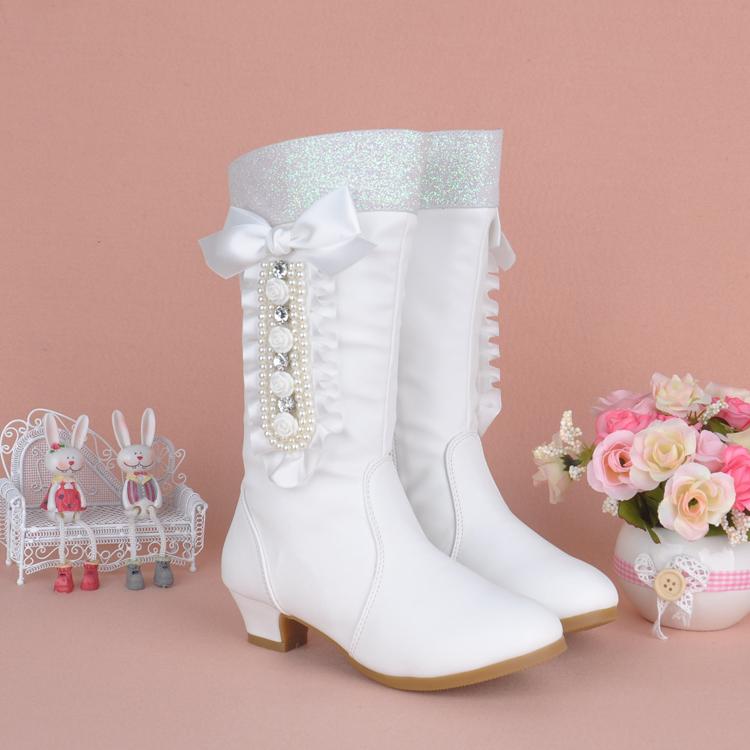 6儿童鞋7女童靴子2015女大童冬季中高筒棉靴8小女孩公主鞋4-12岁9