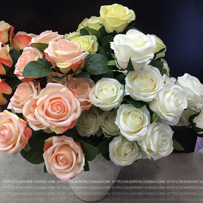 Mô phỏng hoa hồng Hàn Quốc bó hoa vòm vòm cắm hoa chụp trang trí hoa lụa nhà máy hoa bán buôn - Hoa nhân tạo / Cây / Trái cây