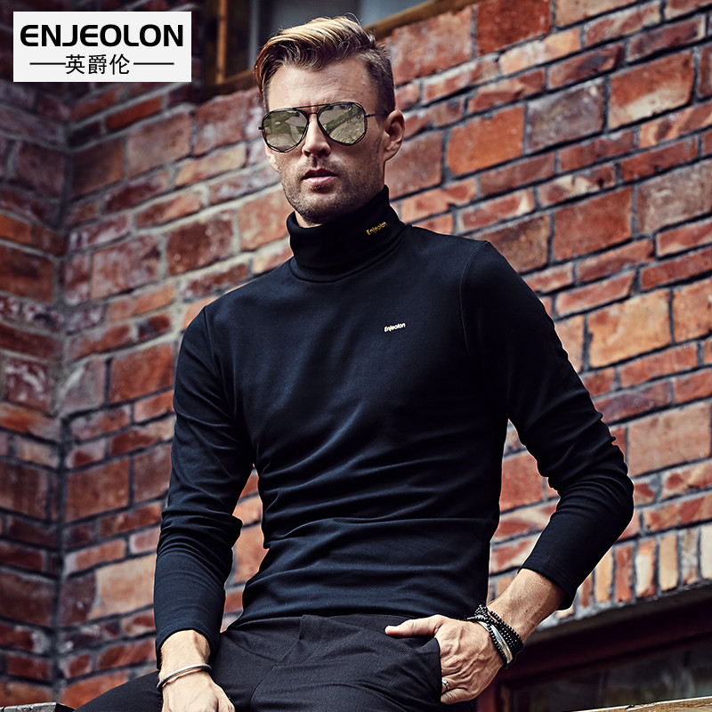 British Viscount Lunga cashmere turtle neck long sleeve t shirt winter base in Europe and a solid color shirt, thick warm clothing insulation t