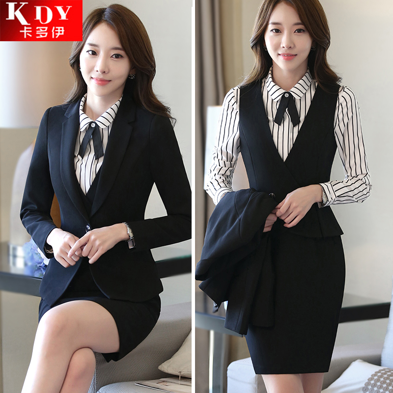 Ladies Dress Suits Professional Wear Long Sleeved Suit Overalls