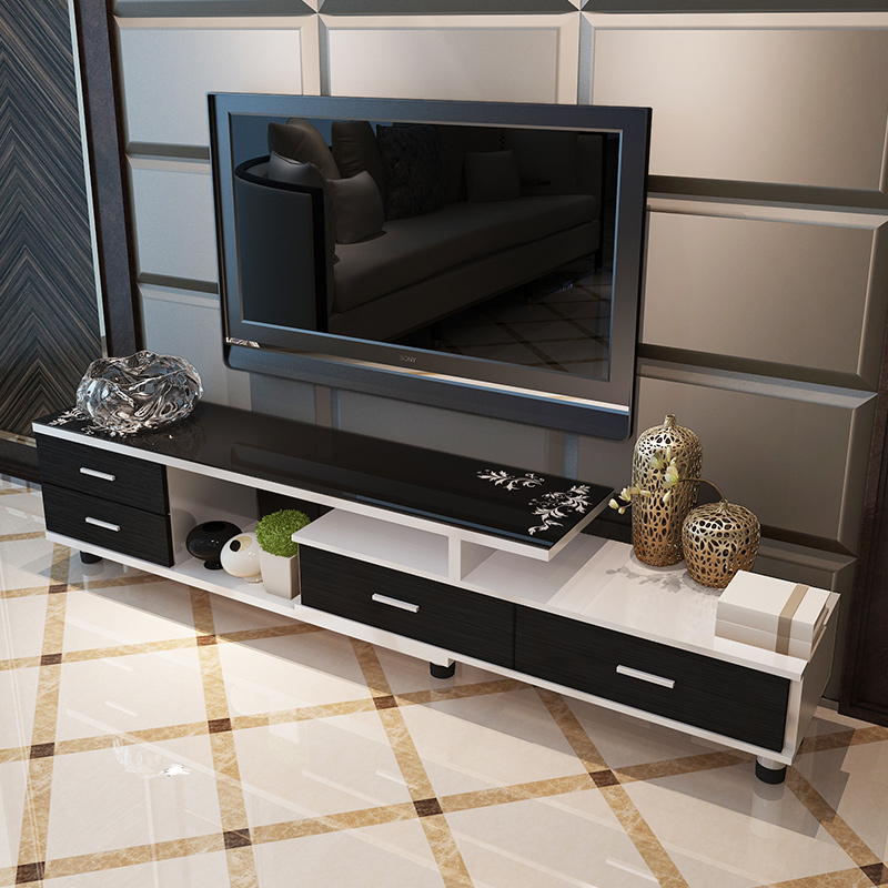 Usd 148 93 Tv Cabinet Simple Modern Tempered Glass Tv Cabinet