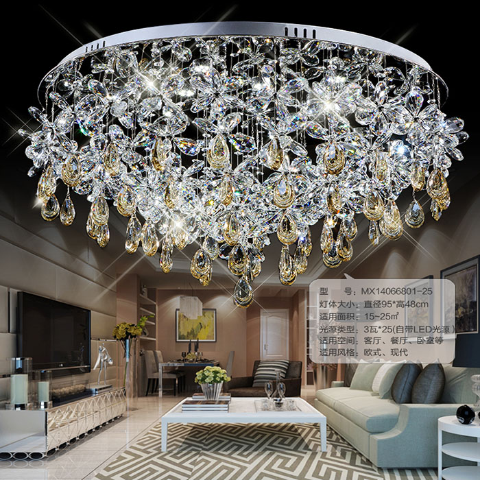 Special offer butterfly remote control led crystal ceiling lighting ...