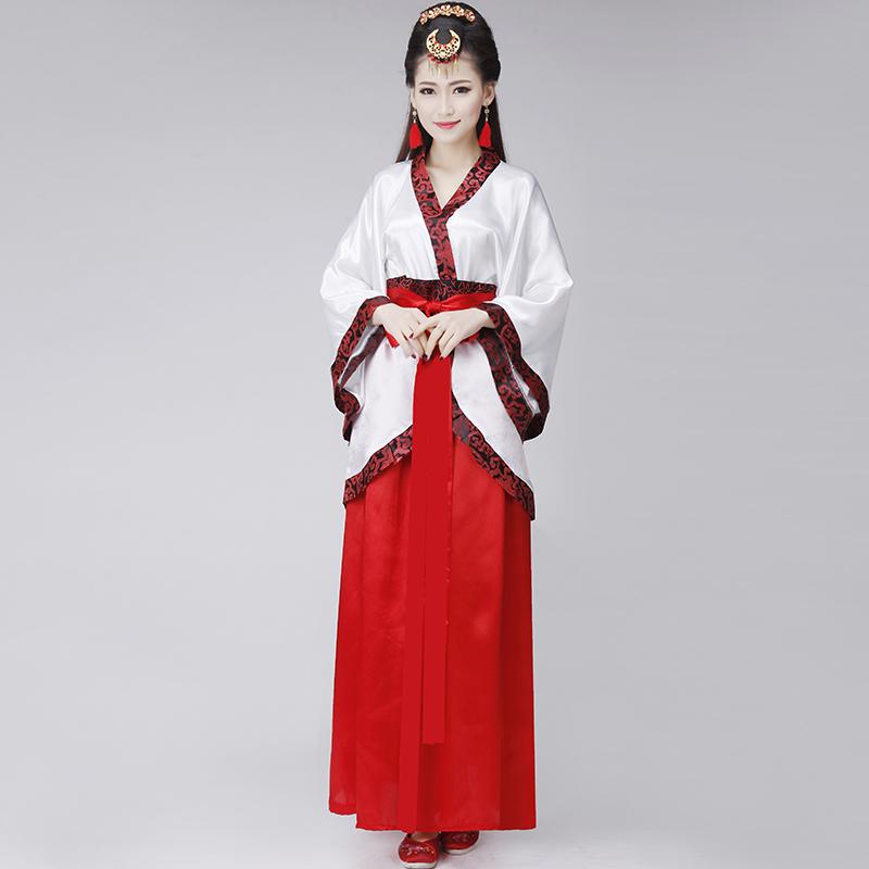 新款汉服古装汉服女装 正规曲裾改良写真 唐装汉服演出服装