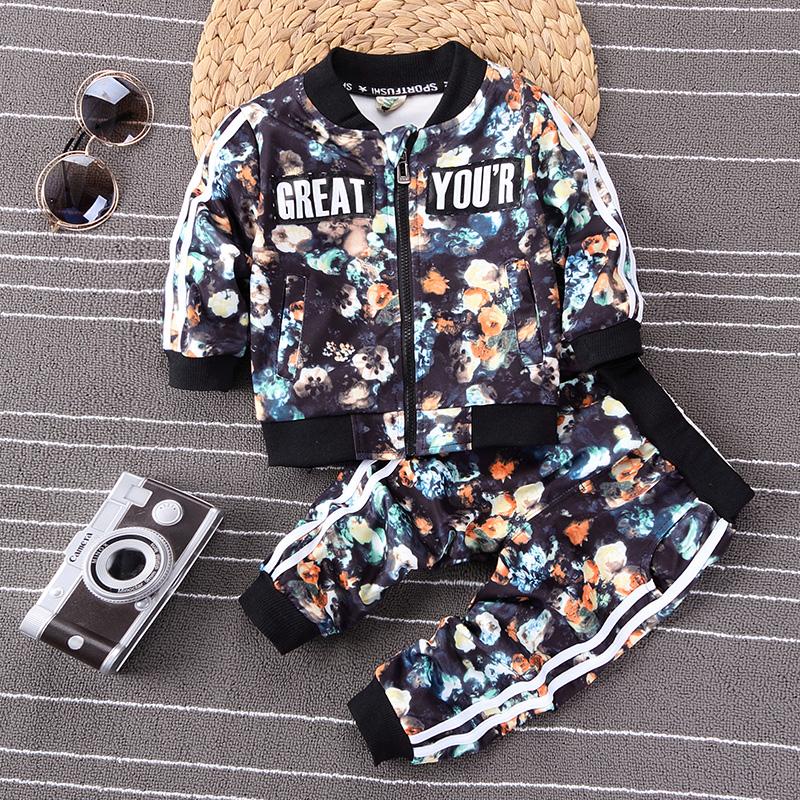 男童装新款儿童长袖宝宝婴幼儿秋季运动套装0-1-2-3-4岁外出服
