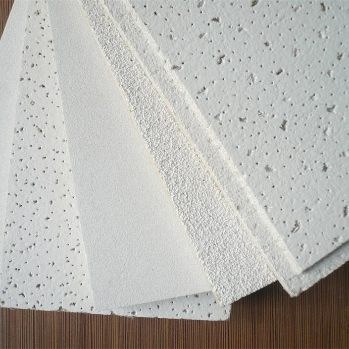 Office Plant Ceiling, Mineral Wool Board Ceiling, Moisture Proof Ceiling  600*600 Sound Absorbing Panels 595 And 603 Size