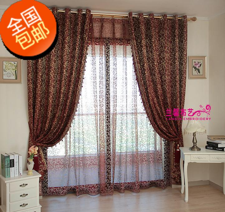 Шторы тканевые Malus red curtains