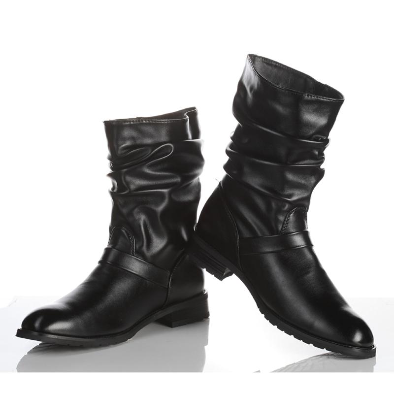 冬季短筒男士雪地靴韩版潮流短靴男靴子加绒棉鞋高帮男鞋马丁棉靴