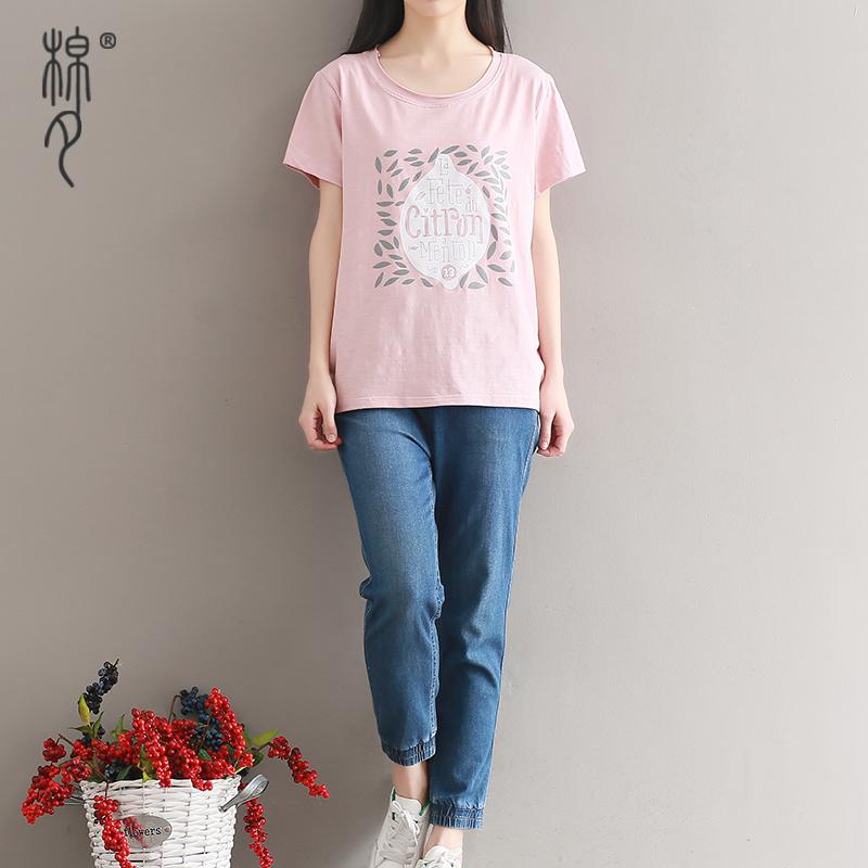 新款大码文艺森系 短袖T恤