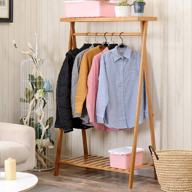 USD Simple Modern Creative Clothes Rack Floor Bedroom Home - Creative clothes racks