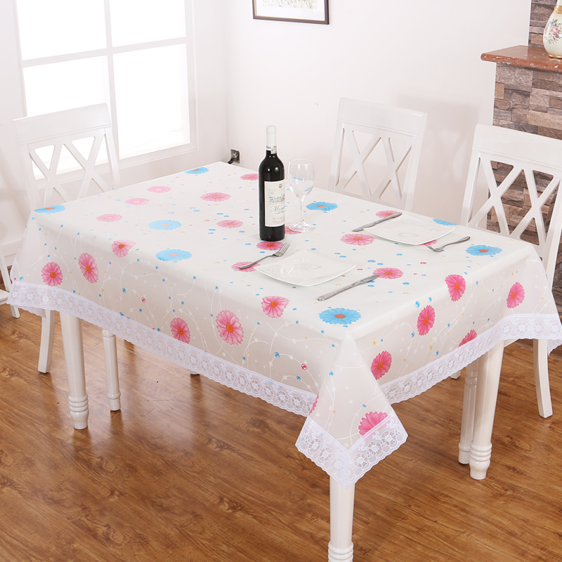 Gorgeous Levin Tea Table Cloth Waterproof PVC Tablecloth Fabric Waterproof  Oil Free Wash Garden Tablecloth Anti Skid