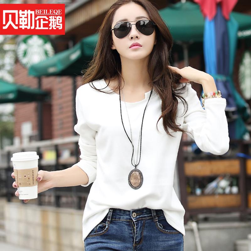 秋冬加绒加厚女冬装韩版长袖打底衫套头大码修身t恤女士体恤上衣