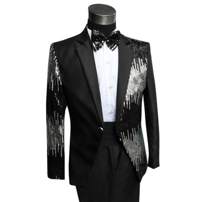 Men's costumes, stage costumes, imported Satin sequins, men's dresses, suits and suits.