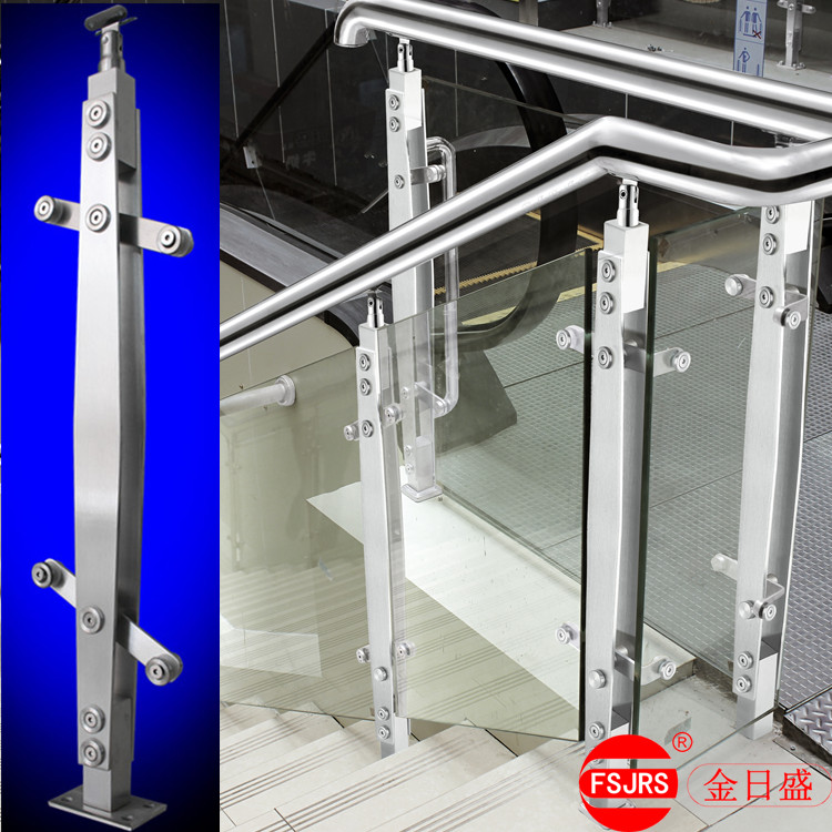 Glass Stairs Handrail Railing Stairs Stainless Steel Column Balcony  Guardrail Gold Day Custom Handrail