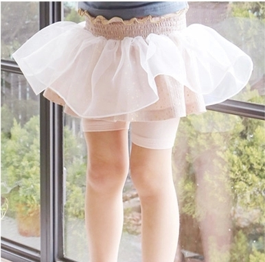 Special new summer Korea children's wear girls wild net yarn cotton skirt pants Korean children's shorts skirts