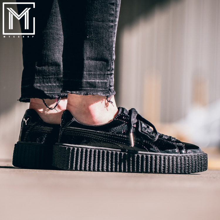 puma shoes fenty for men. puma fenty creeper rihanna joint men and women thick bottom pine cake board shoes 364465-01 for