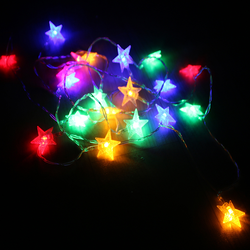 Multicolored Star String Lights Children Tent Decoration Battery Flashing Led Sixty One Gift Christmas