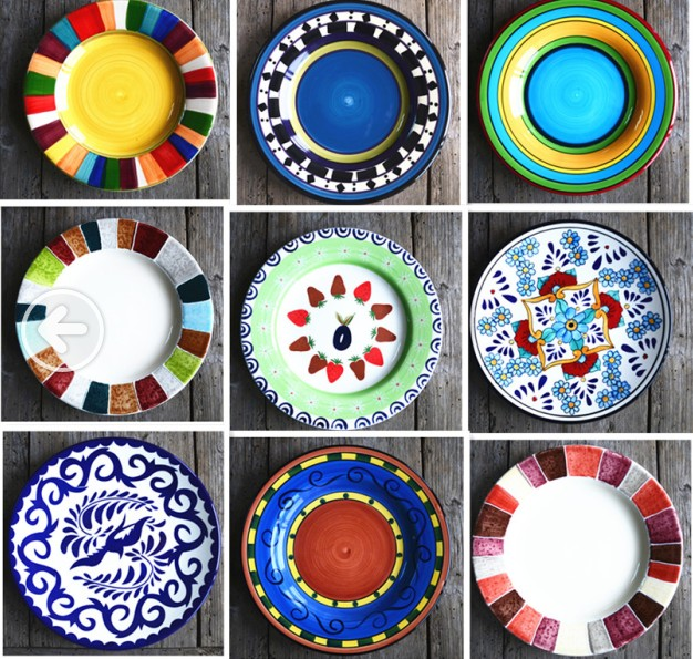 Painted Plate Can Be Wall Ceramic 8 5 9 Inch Flat
