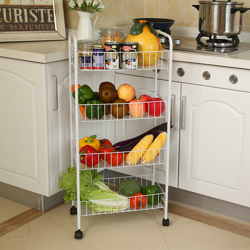 Vegetable Rack Mobile Storage Storage Rack Fruit Basket Shelf Kitchen  Finishing Shelf Cart Kitchen Racks