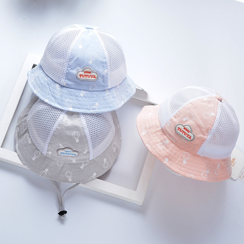 e01b2def44b Baby hat spring and summer girl thin section 0 baby Princess sun hat 1-3