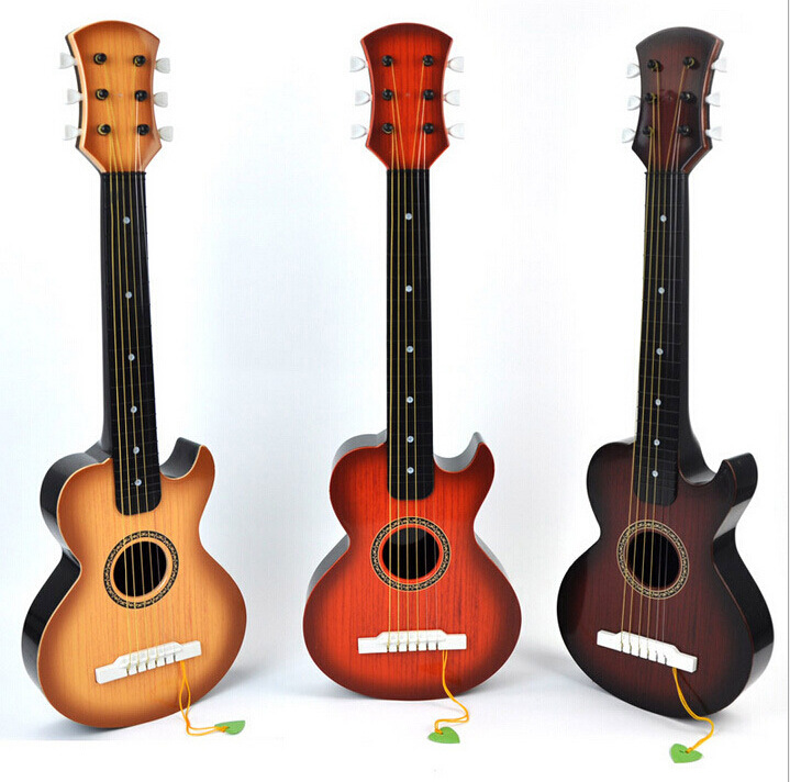 USD 14.26] Large simulation guitar can play wood grain six wire ...