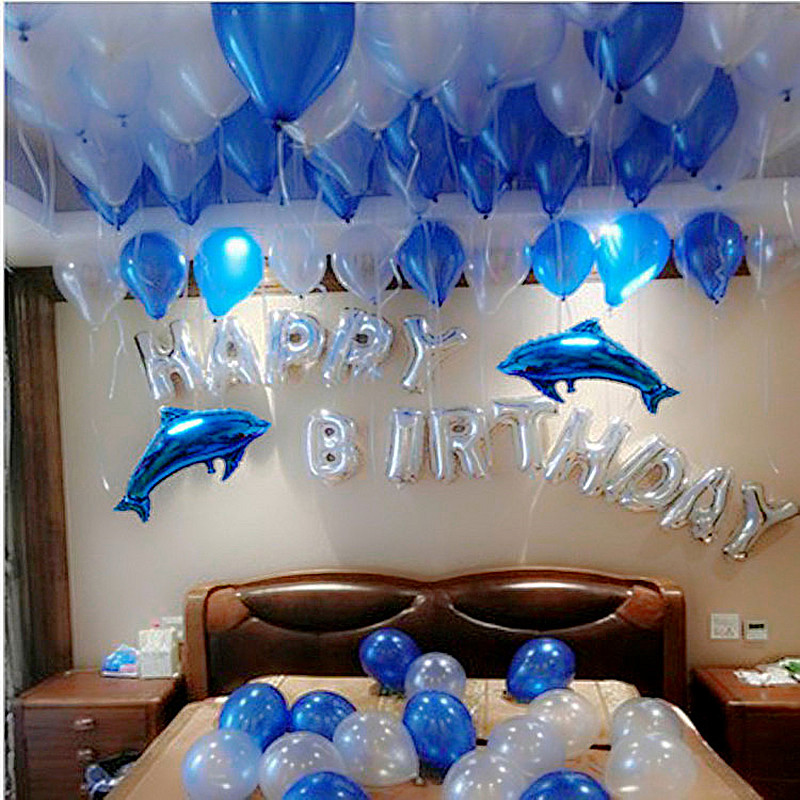 Romantic Marriage Proposal Birthday Arrangement Package Party Decoration Happy Balloon Ktv Background Wall