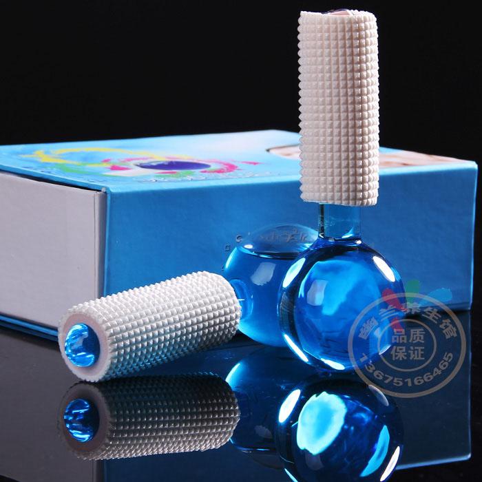 冰波美容球冰晶美容仪水晶肌肤棒能量冰凉冰球美容冰玻球蓝色