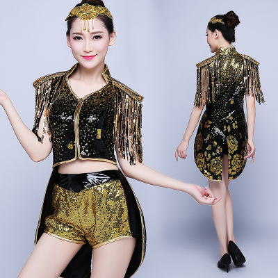 Jazz Dance Costumes Modern Dance Garment Jazz Dance Performance Dress Swallow Tail Female Singer Adult Fashion Segment Stage