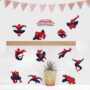 孩派 迪士尼身高贴儿童房装饰可移除卡通贴画 漫威蜘蛛侠墙贴