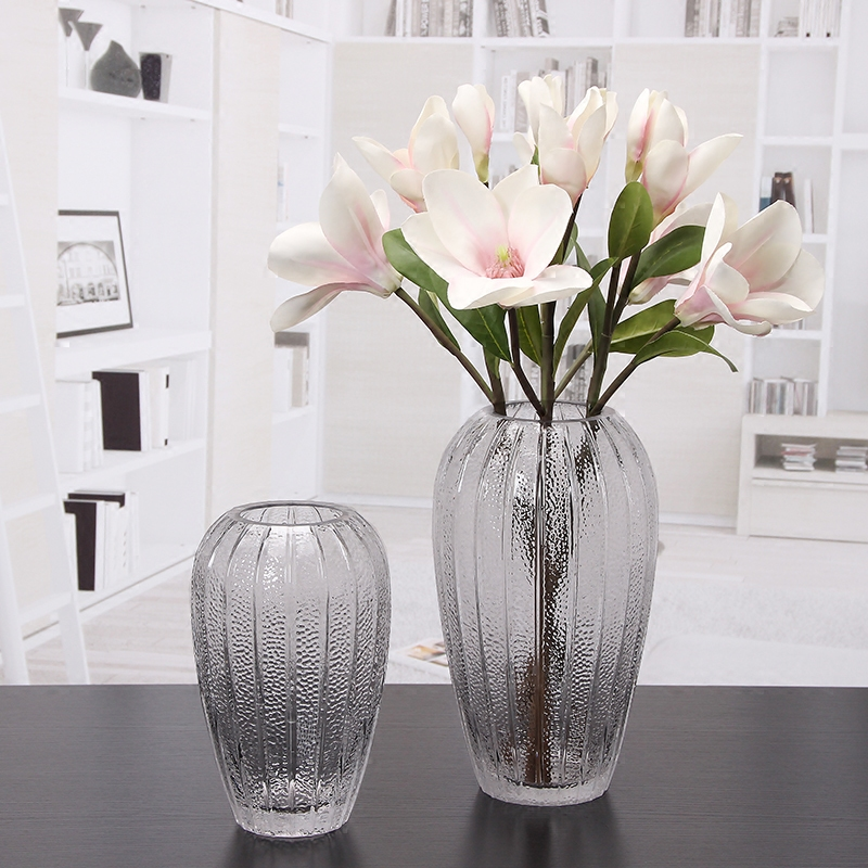 USD 18.69] Minimalist modern glass vase transparent creative living ...