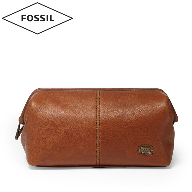 Fossil Men S Leather Clutch Bag Cosmetic Estate Series Mlg0036