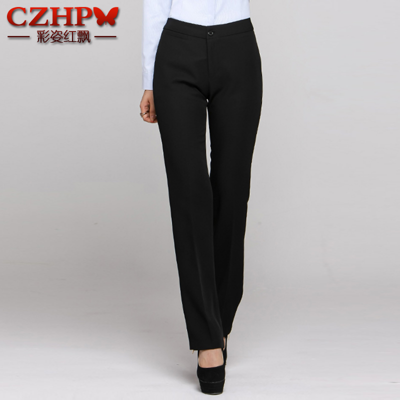 Color hotel workwear summer dress waitress female black wild straight pants overalls uniforms
