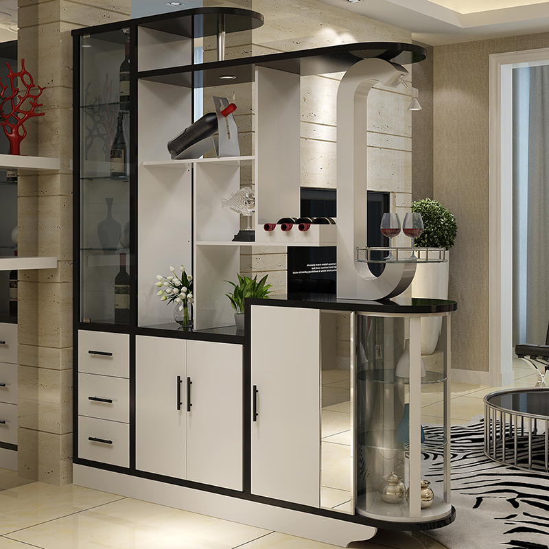 Modern Minimalist Living Room Double Sided Storage Partition Cabinet Small  Apartment Hall Hollow Decoration Shoe Cabinet Wine Cabinet Entrance Cabinet