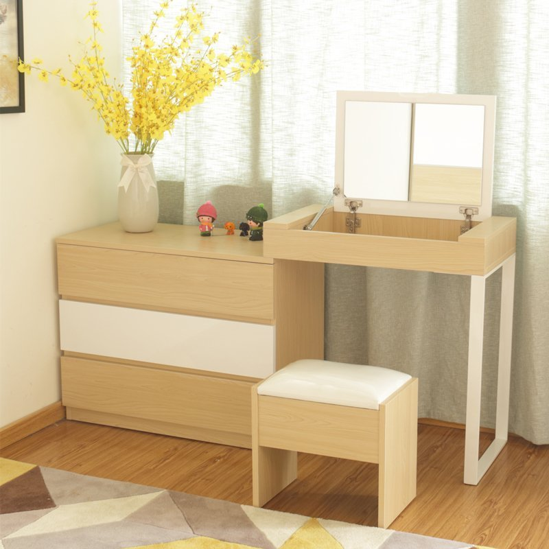 dresser chambre simple moderne petit appartement maquillage table ...