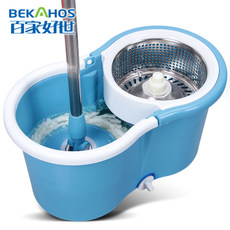 One hundred good World rotating mop automatic hand pressure mop bucket spinning mop tile dual drive home drag Pa