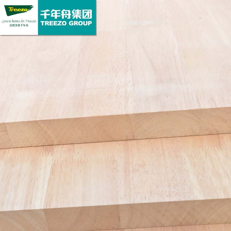 Millennium Boat E0 40mm Thailand Imports Rubber Wood Finger Jointed Boards  Glued Laminated Solid Wood Countertops Desktop Panel