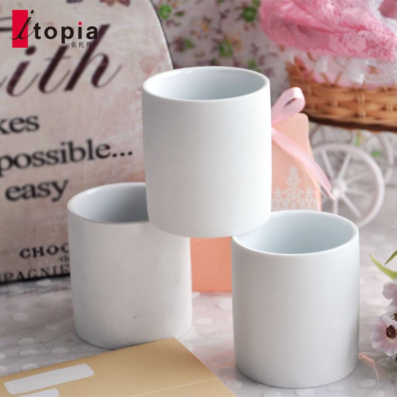布歌东京布丁杯白色磨砂耐烤陶瓷西点布丁杯甜点杯复古茶杯酒杯