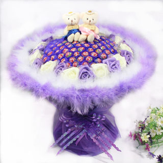Lollipop bouquet 99 candies oversized bear bouquet for boys and girls Valentine's Day gifts birthday gifts