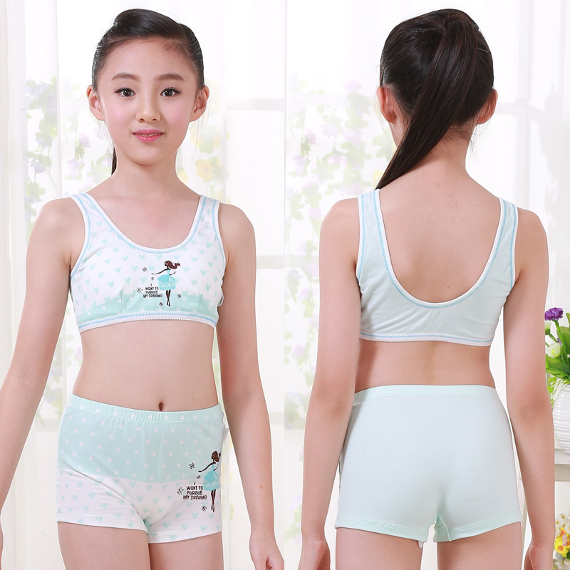 Girls underwear vest children s cotton sports bra bra in the development of  large children s bra tops 064d2b3ef